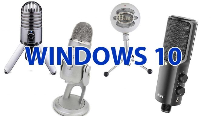 Микрофон windows 10